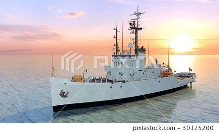 图库插图: 巡逻船 海 军舰