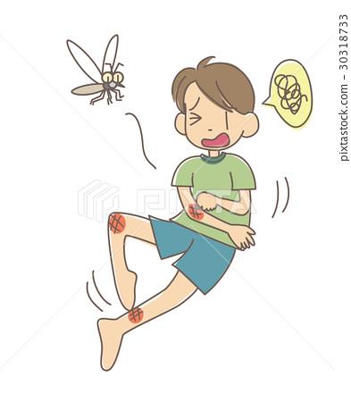 图库插图: 蚊子 痒 蚊虫叮咬