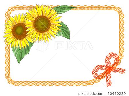图库插图: 卡片 矢量 向日葵