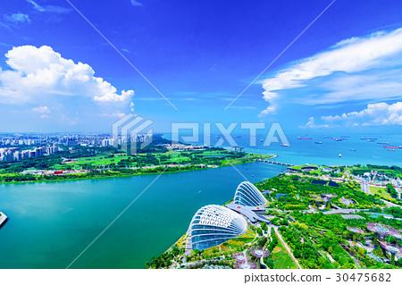 图库照片: 新加坡 滨海湾金沙 景色