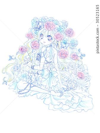 图库插图: 新娘 矢量 撒花