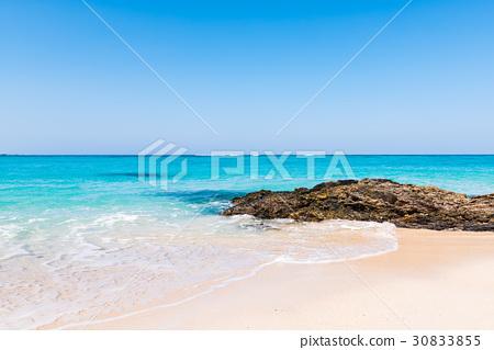 图库照片: 冲绳 海滩 波浪