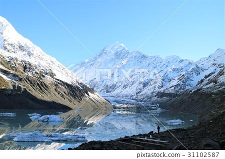 风景_自然 山 雪山 照片 新西兰 库克山 雪山 首页 照片 风景_自然 山