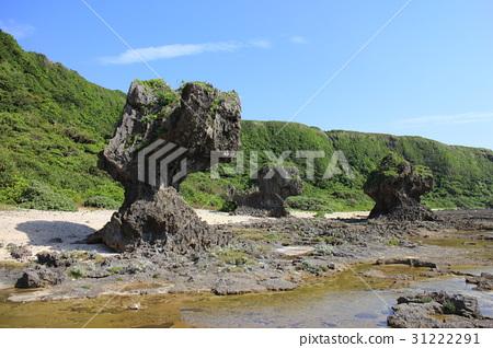 风景_自然 海 海岸 照片 形状独特的石头 侵蚀 海岸 首页 照片 风景