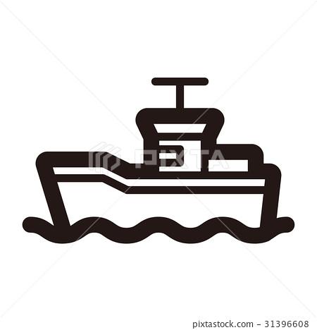 图库插图: 图标 渔船 船