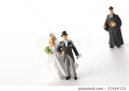 图库照片: 新郎新娘 婚礼 婚纱