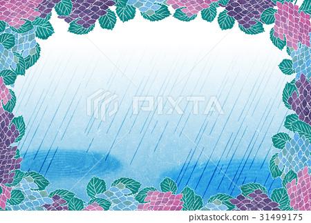下雨背景边框竖屏