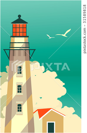 图库插图: sea travel vintage poster