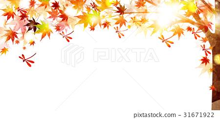 图库插图: 秋叶秋天风景背景