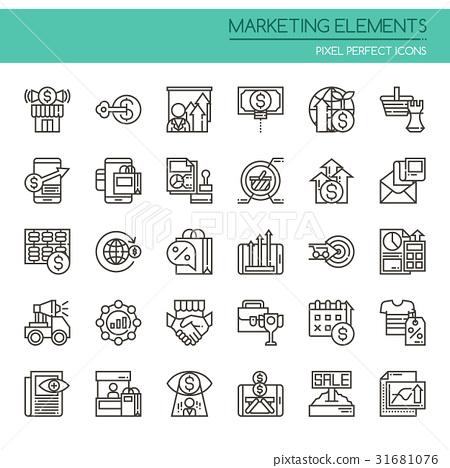 图库插图: marketing elements