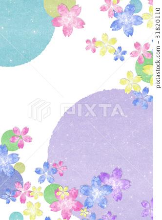 插图 背景_小物 风格 和风 花朵 花卉 花  *pixta限定素材仅在pixta