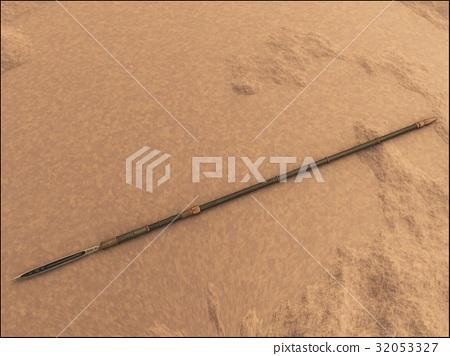 脸部_身体 身体_身体部分 手臂 长矛 武器 日本刀  *pixta限定素材仅