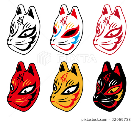 图库插图: 矢量 狐狸 面具图片