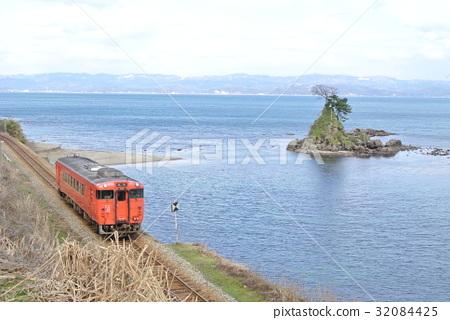 图库照片: 赫德岛和麦克唐纳群岛线 雨晴 富山县