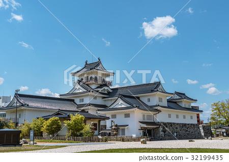 图库照片: 富山城 城堡 城墙