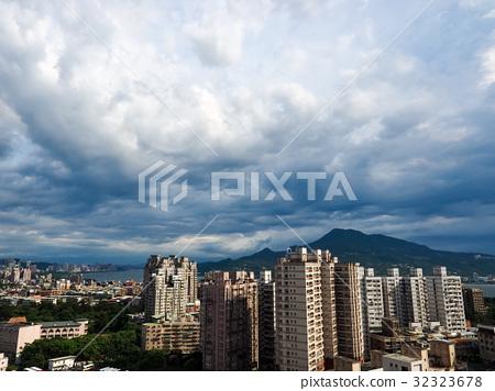 图库照片: 观音山 建筑 云彩