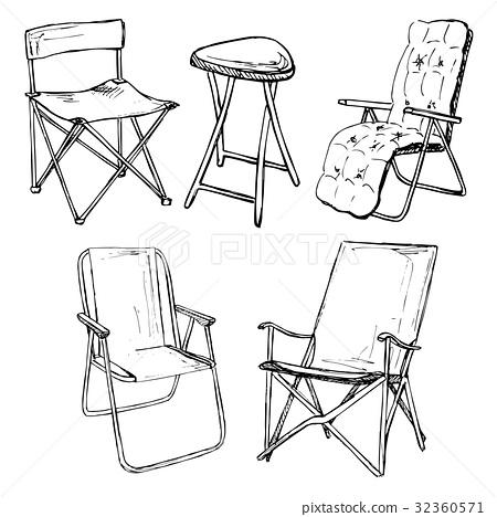 家具 简笔画 手绘 线稿 椅 椅子 450_468