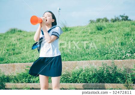 喝彩 首页 照片 人物 女性 女孩 高中生 支持 喝彩  *pixta限定素材仅