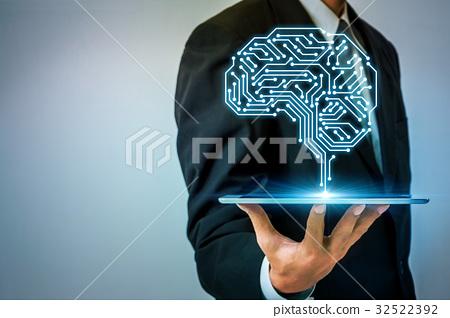 图库照片: 大脑 头脑 电路