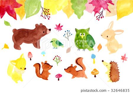 风景_自然 季节 秋 插图 秋天动物插图 首页 插图 风景_自然 季节 秋
