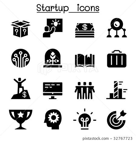 图库插图: start up icons