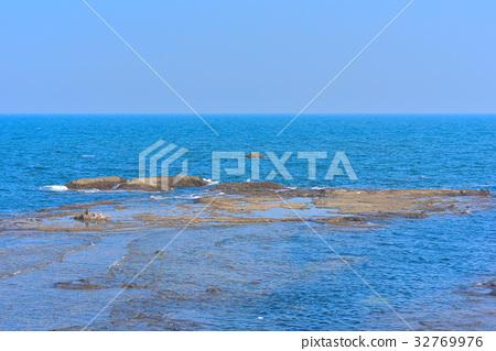 图库照片: 沉没的岩石 岩石地带 江之岛