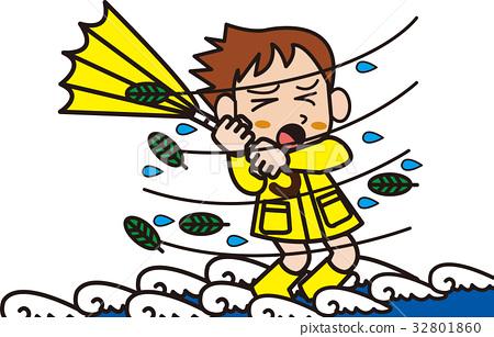 插图素材: 台风