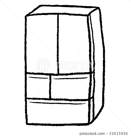 图库插图 一台冰箱