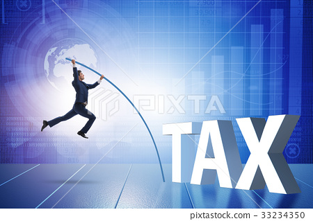 evasion官网_图库照片: businessman in tax evasion avoidance concept