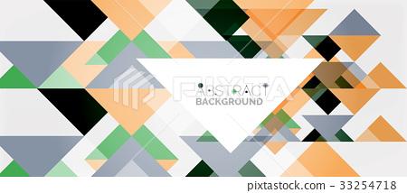 图库插图: triangle pattern design background图片