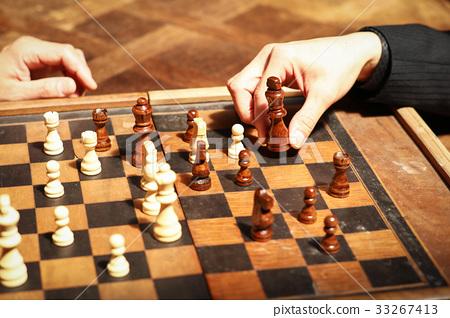 休闲_爱好_游戏 游戏 棋 西洋棋 国际象棋 西洋象棋  *pixta限定素材