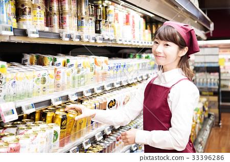 销售人员_客户服务 店员 超级 超市 店员  *pixta限定素材仅在pixta