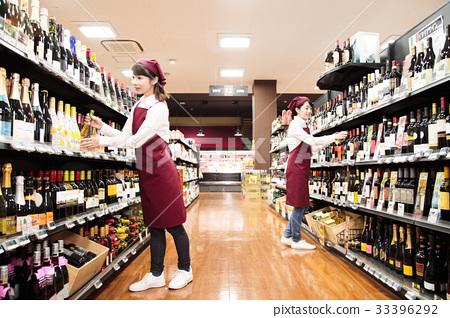 销售人员_客户服务 店员 超市超市职员工作人员  *pixta限定素材仅在