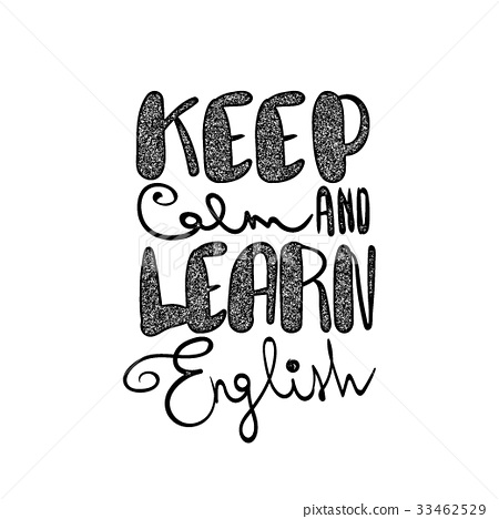 图库插图: keep calm and learn english