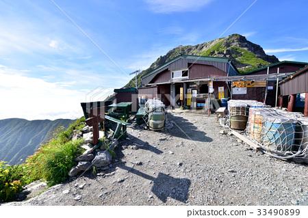 图库照片: 喜多山 山野中的小木屋 南阿尔卑斯山