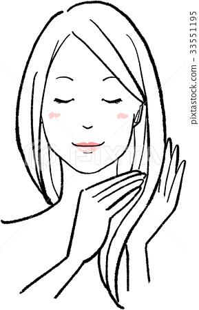 图库插图: 长头发 长发 女人