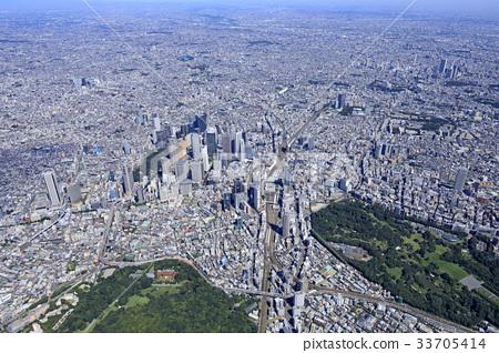 照片素材(图片): 东京 航拍照片 场景