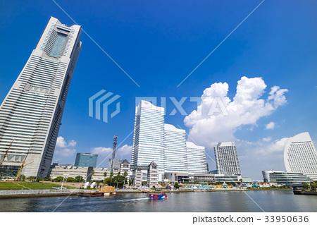 图库照片: 横滨 未来港 风景