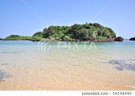 图库照片: 星沙海滩 西表岛 海岸