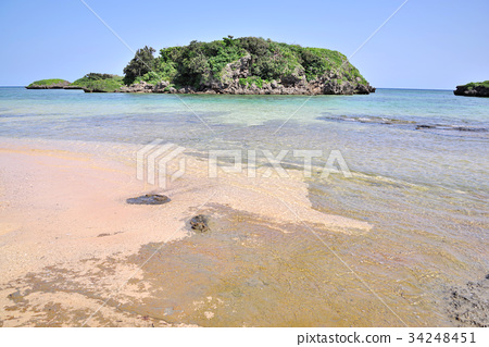 图库照片: 星沙海滩 西表岛 海滩