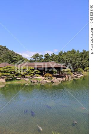 图库照片: 栗林公园 特别景点 高松