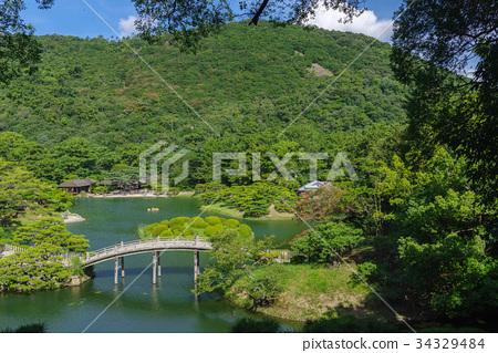 风景_自然 季节 夏 照片 栗林公园 日本园林 日式花园 首页 照片 风景