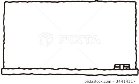 手绘素材边框粉笔