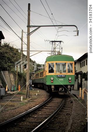 图库照片: 江之岛电铁的风景(近350极乐寺 - 稻垣崎附近)
