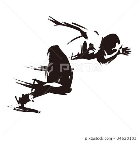 图库插图: 田径赛事 冲刺(奔跑) 短跑选手图片