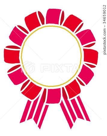 图库插图: 玫瑰 矢量 奖章