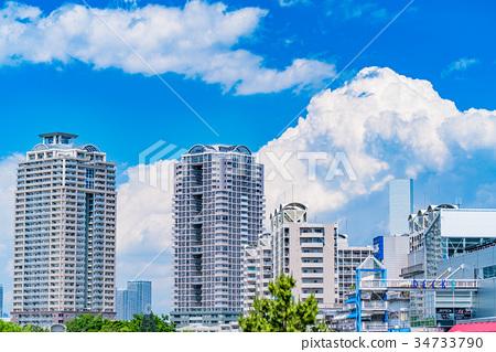 图库照片: 东京风景台场·高层公寓风景