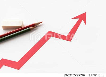 笔 铅笔 箭头 箭 提升  *pixta限定素材仅在pixta网站,或pixta合作