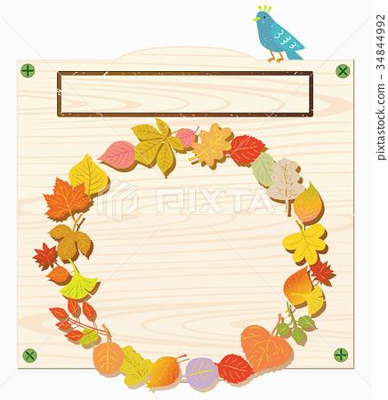 插图 植物_花 树_树木 枫树 广告牌 告示牌 签字  *pixta限定素材仅在