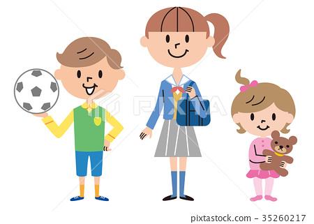 插图 儿童 孩子 小朋友 首页 插图 姿势_表情_动作 构图 全身 儿童